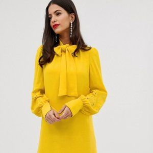 French Connection NAVY Long Sleeve Amrita Dress 4
